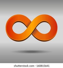 Vector illustration of sleek style Infinity Symbols