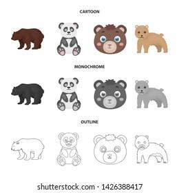Vector illustration of sleep and brown logo. Collection of sleep and animal stock vector illustration.