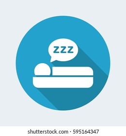 Vector illustration of sleep icon