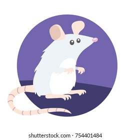 vector illustration of a small mouse