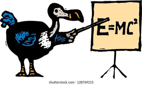 Vector illustration of smart dodo bird