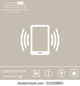Vector illustration of smartphone icon