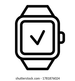 vector illustration of a smartwatch