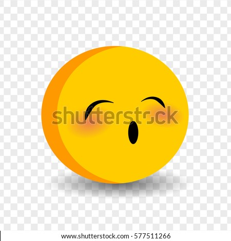 Vector Illustration Smile Icon Face Emoji Stock-Vektorgrafik ...