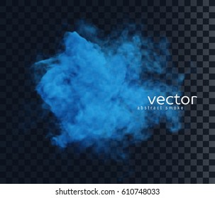 Vector illustration of smoke. Isolated transparent special effect.