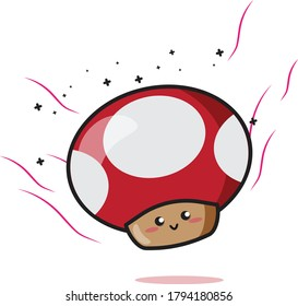Vector Illustration of Smurfs Super Mario. Cute character Smurfs. Suitable for graphic video game, mascot logo, and toy store business.