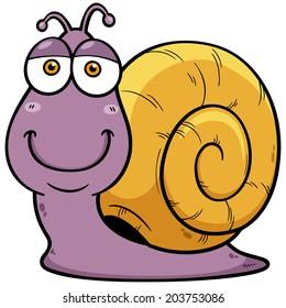 Vector illustration of Snail cartoon