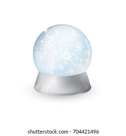 Vector illustration of a snow globe Christmas Christmas object isolated on a white background