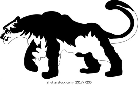 vector illustration snow leopard