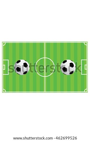 802b766be Vector illustration of soccer ball with field & goal posts in the abstract  bacground
