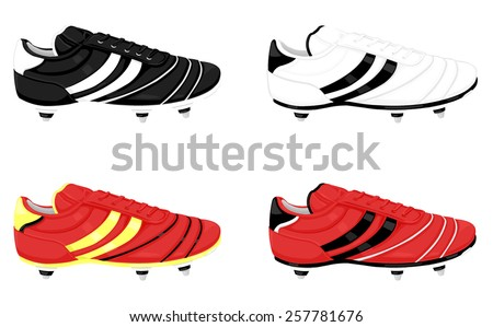 4d6fa2e5674b A vector illustration of soccer boots with studs for grip. Soccer boots.  Football boots