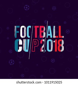 vector illustration. soccer cup on football 2018 in Russia. design elements for the soccer championship, Dynamic colorful stripes surround modern design. realistic isolated vector ball.