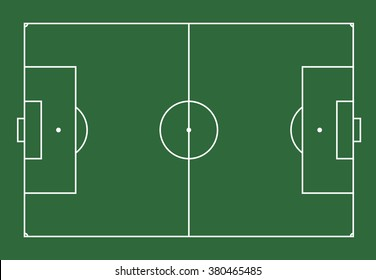vector illustration of soccer field or football field.