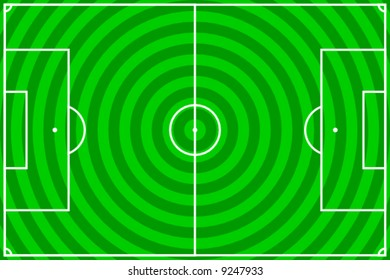 vector illustration of a soccer field with green circles