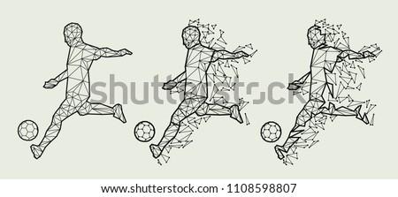vector illustration soccer football