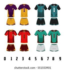 A vector illustration of Soccer Jersey Uniform Design