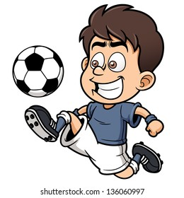 soccer cartoon images stock photos vectors shutterstock rh shutterstock com soccer player cartoon images soccer player cartoon pics