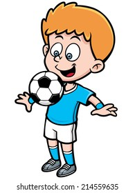 Vector illustration of Soccer player
