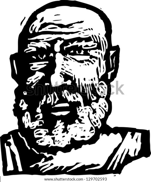 Vector illustration of Socrates