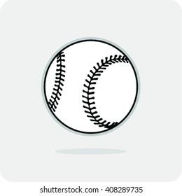 Vector Illustration of Softball or Baseball