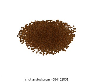 Vector illustration of soil, mud on a white background. Ready vector object for your template, infographics, flyer, banner. Vector soil background isolated on white.