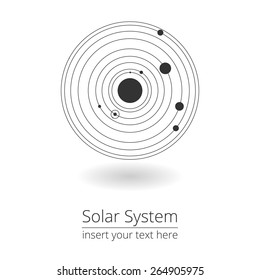 Vector illustration of solar system, design elements, EPS 8