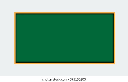 Vector illustration of solid green blackboard border