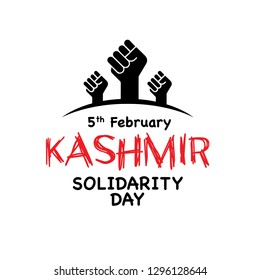 Vector Illustration of Solidarity with Hands Icon - Kashmir Solidarity Day