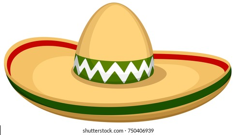 Vector illustration of a sombrero hat.