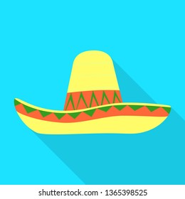 Vector illustration of sombrero and mexican logo. Set of sombrero and hat stock symbol for web.