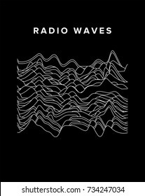 Vector illustration of sound waves.