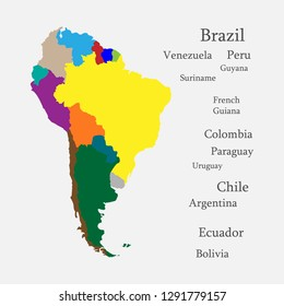 Latin America South America Map.Illustration Map Latin America Images Stock Photos Vectors