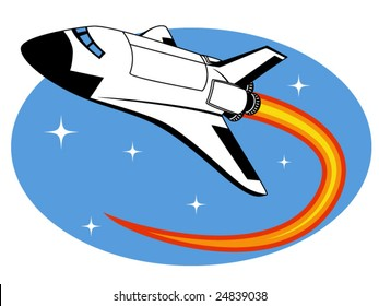 vector illustration of a space shuttle