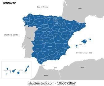 Vector illustration of Spain map