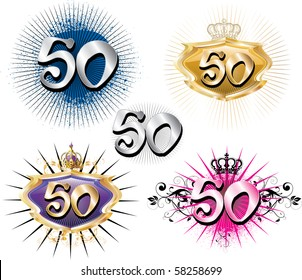 Vector Illustration for Special Birthdays Anniversaries and Occasions. Great for t-shirt or cards.