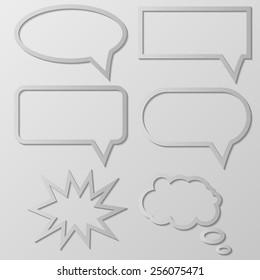 Vector illustration of Speech Balloon.