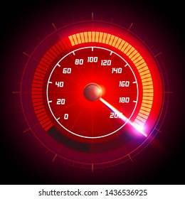 Vector illustration speed motion with fast speedometer car. Racing velocity background.