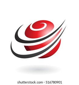 Vector Illustration of Spiral Sphere Abstract Icon isolated on a white background