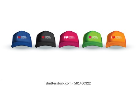 Vector illustration of sport cap. Realistic illustration of sport clothes.
