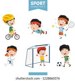 Vector Illustration Of Sport Character