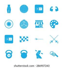Vector illustration of sport set icon