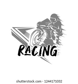 vector illustration Sport superbike motorcycle, logo sport motorcycle