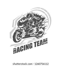vector illustration Sport superbike motorcycle, logo sport motorcycle