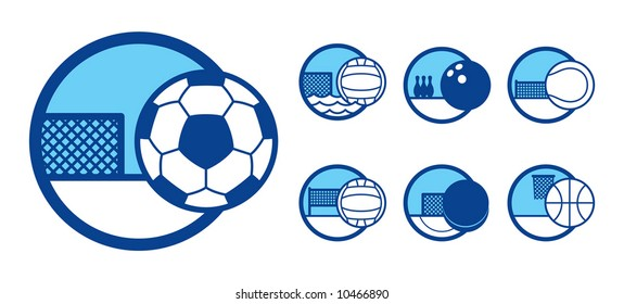 vector illustration of a sport theme icons