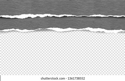 Vector illustration of the squared ripped paper for writing messages on gray abstract background. EPS10.