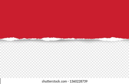 Vector illustration of the squared ripped red paper for writing messages on gray abstract background. EPS10.