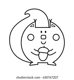 Squirrel Coloring Pages Images, Stock Photos & Vectors | Shutterstock