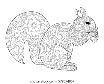 Squirrel Coloring Pages Images Stock Photos Vectors Shutterstock