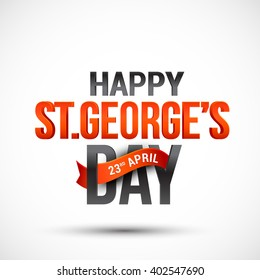 Vector illustration of St George Day typography  banner or poster.