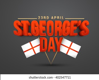 Vector illustration of St George Day banner or poster.